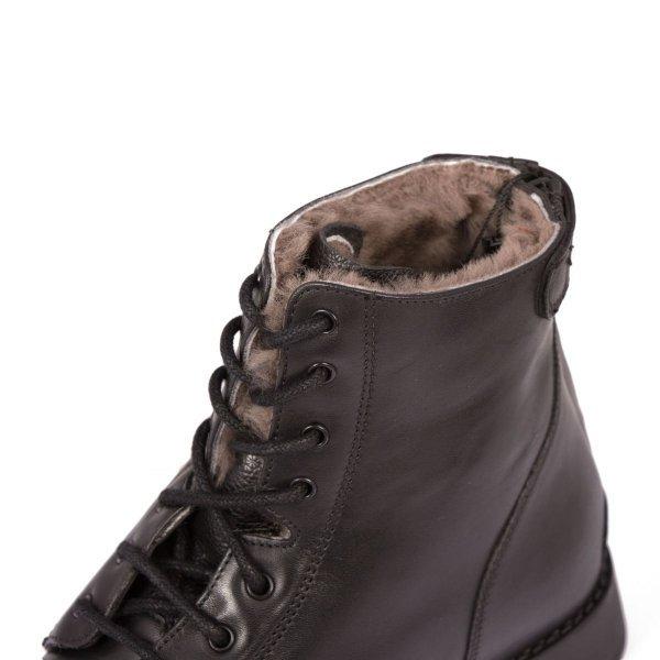 """Stiefelette """"Justify Winter"""" von BRONCO mit Reißverschluss. Bequeme Boots aus Echtleder robuster Reitschuh mit Gummisohle schwarz und braun"""