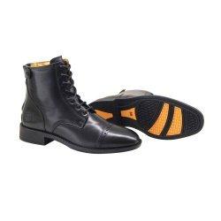 Stiefelette »Justify« von BRONCO mit Reißverschluss. Bequeme Boots Echtleder Robuster Reitschuh mit Gummisohle schwarz und braun