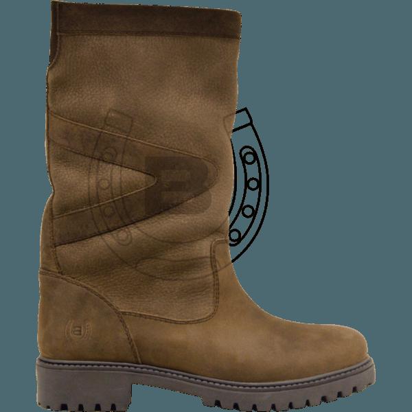 Stiefel »Logan« halbhoch von BRONCO Bequeme Country Boots Echtleder wasserdichter und atmungsaktiver robuster Stallschuh mit Gummisohle