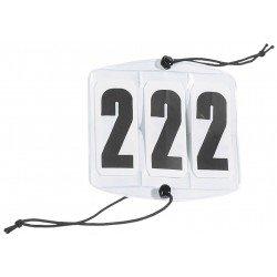 Kopfnummern Startnummern OVAL- Reitsport Turnierartikel Turniersport Turnierzubehör, 3-stellig , weiss