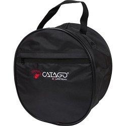CATAGO Helmtasche Unisex Collection Huttasche, Zylindertasche, mit Spiegel im Deckel, schwarz, one size