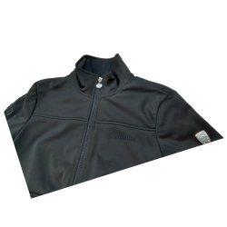 Cavallo Multifunktionelle Damen Softshelljacke Sammy, winddicht und wasserfest, schwarz