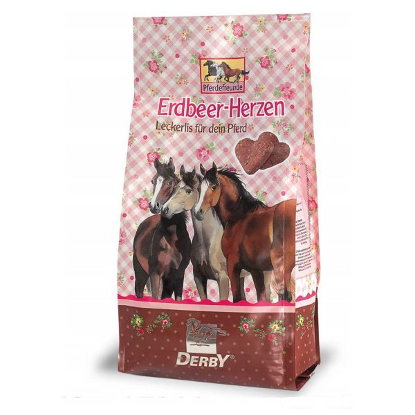 Leckerli Erdbeer-Herzen von Derby 700 g