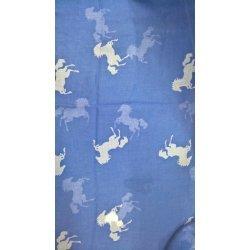 Equi Thème Schal, Damen, bedruckt mit Pferdemotiv, pflegeleicht hellblau, weiss