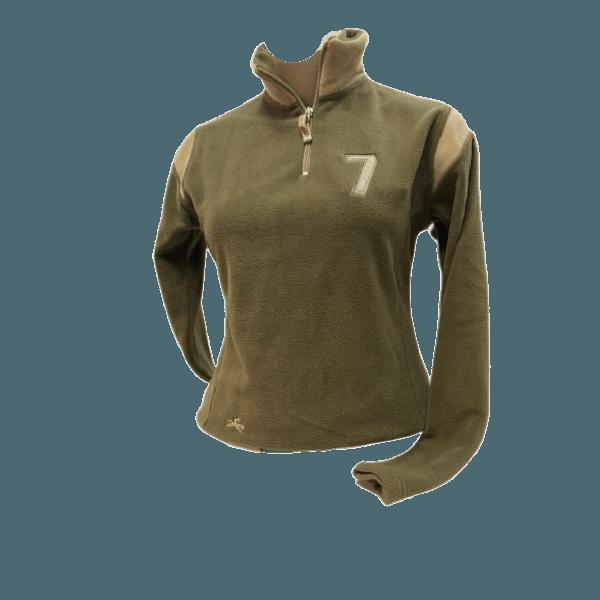 Fleecepulli Sweater Polar Micro Fleece Troyer, khaki-beige