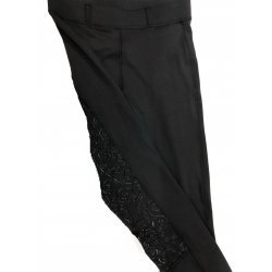 Reitleggings für Damen und Kinder mit Silikon-Vollbesatz | super bequeme Reithose | Voltigierhose |Hochbund | perfekt zum Reiten und Voltigieren | Blacky