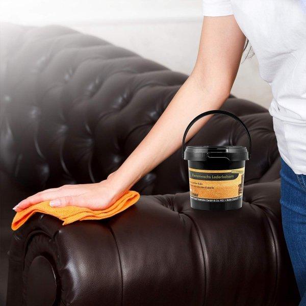 Bienenwachs-Lederbalsam von equi-deluxe ideale Pflege für Sättel, Trensen, Autositze, Taschen, und weitere Glattleder - 500ml