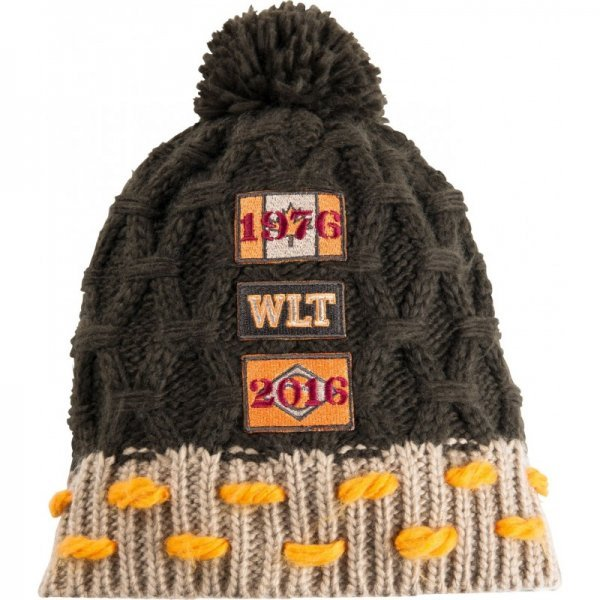 Wintermütze aus weichem Strick mit Bommel, von Ekkkia, One Size, braun-gold
