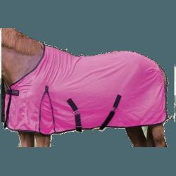 Fliegendecke, Sommerdecke für empfindliche Pferde, angenehm atmungsaktives Fliegenflies, Pink