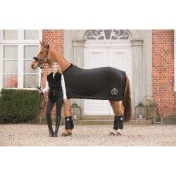 Pferdedecke Abschwitzdecke HKM by Glööckler - Royal Fur Edition - schwarz-silber