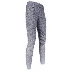 Reitleggings von HKM County Silikon Kniebesatz, hochwertige Qualität, Stretch-Material, jeansblau