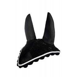 Fliegenhaube mit Ohren von HKM gehäkelte Fliegenohren mit Dekolitze, schwarz silber