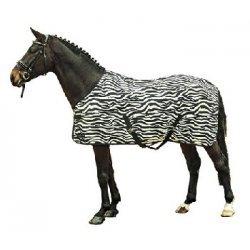 HKM Fliegendecke - Pferdedecke - Zebra - mit Kreuzgurt