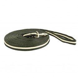 Longe Soft mit Karabinerhaken und Handschlaufe von HKM, extra weich, 8 m lang, zweifarbig