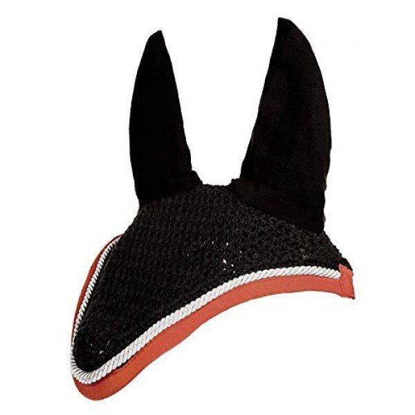 Fliegenhaube mit Ohren von HKM gehäkelte Fliegenohren mit Dekolitze, Schwarz-Rot