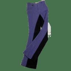 Jodhpurhose 5841von HKM, Vollbesatz, Damenreithose, Mädchenreithose Jeans mit Nadelstreifen und kontrastfarbenem Gesäßbesatz