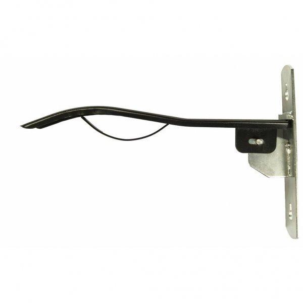 Sattelhalter aus Metall klappbar Wandmontage schwarz/silber