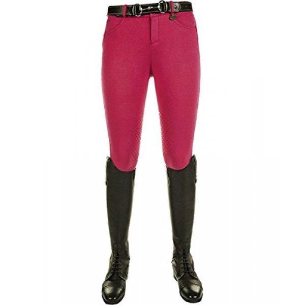 HKM Reithose - Softice - , Silikon Kniebesatz, pink