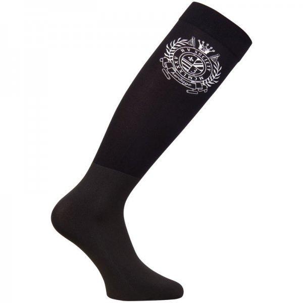 HV Polo Reitstrümpfe HV Polo Boot Socks sehr dünn speziell für Reitstiefel in Schwarz, kniehoch, nicht-einschnürender Bund, atmungsaktiv