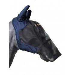 Fliegenmaske Hermine mit Nüsternlatz/UV-Schutz von HV Polo perfekt gegen Insekten & Sonnenbrand, Navy