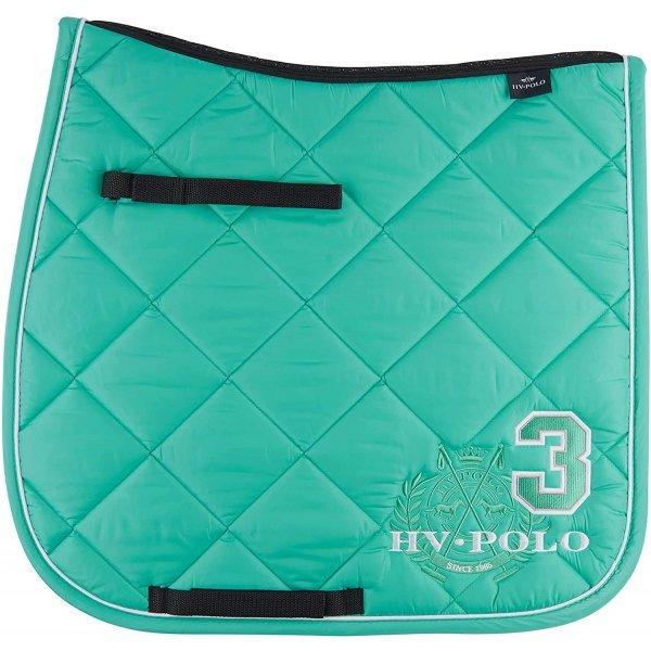 HV Polo Schabracke Favoritas Dressur Dressurschabracke, Farbe Turquoise, aufwendige Stickerei, Steppmuster, HV-Polo-Logo, Coolmax Technologie