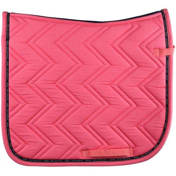 HV Polo Schabracke Mia Dressur Dressurschabracke, Farbe Bright Coral, Steppmuster, HV-Polo-Logo