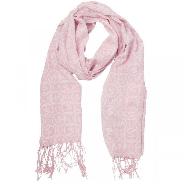 Hochwertiges HV Polo Halstuch Schal Essential mit Fransen, Farbe Coral