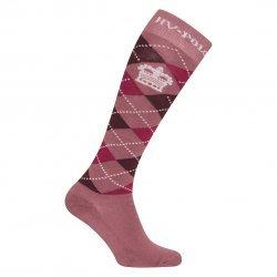 HV Polo Kniestrümpfe Reitsocken Argyle, Socken, Strümpfe, HV Polo Socken, Baumwollmaterial, ideal für die Reitstiefel- verschiedene Größen, Mauve