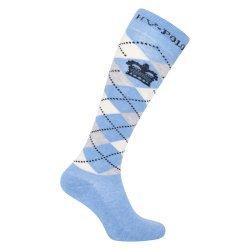 HV Polo Kniestrümpfe Reitsocken Argyle, Socken, Strümpfe, HV Polo Socken, Baumwollmaterial, ideal für die Reitstiefel- verschiedene Größen, Farbe Light Denim