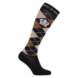 HV Polo Kniestrümpfe Reitsocken Argyle, Socken, Strümpfe, HV Polo Socken, Baumwollmaterial, ideal für die Reitstiefel- verschiedene Größen, Farbe Navy Camel Heather