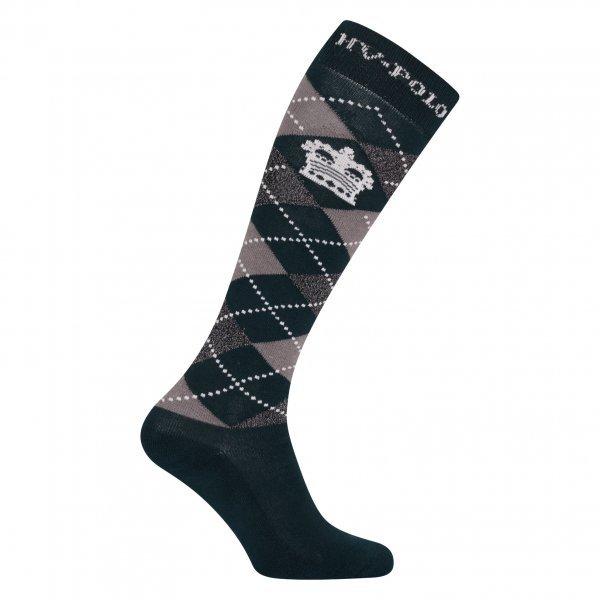 HV Polo Kniestrümpfe Reitsocken Argyle, Socken, Strümpfe, HV Polo Socken, Baumwollmaterial, ideal für die Reitstiefel- verschiedene Größen, Ivy Green