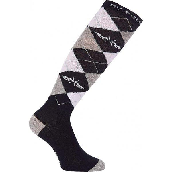 HV Polo Kniestrümpfe Reitsocken Argyle, Baumwollmischgewebe, Farbe Black, 0205390008-9000