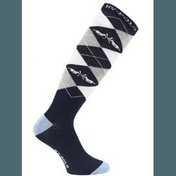 HV Polo Kniestrümpfe Reitsocken Argyle, Socken, Strümpfe, HV Polo Socken, Baumwollmaterial, ideal für die Reitstiefel- verschiedene Größen, Navy new