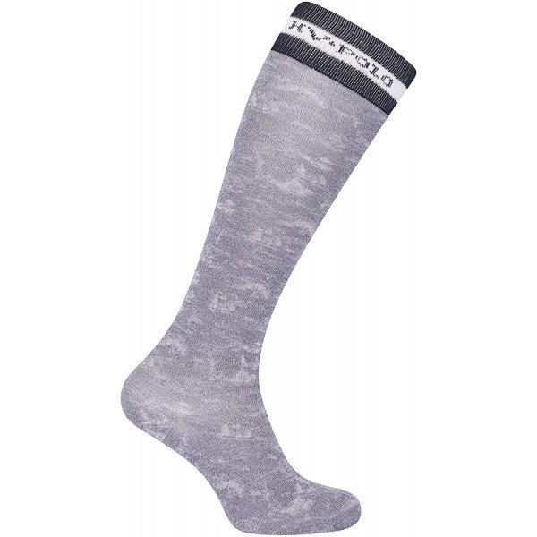 HV Polo Kniestrümpfe Reitsocken Etsy, Socken, Strümpfe, HV Polo Socken, Baumwollmaterial, ideal für die Reitstiefel- verschiedene Größen, Farbe Navy Silver
