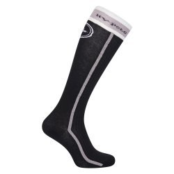 HV Polo Kniestrümpfe Reitsocken Puck, Strümpfe, HV Polo Socken, Baumwollmaterial, ideal für die Reitstiefel, black
