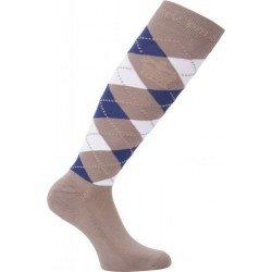 HV Polo Kniestrümpfe Reitsocken Argyle, Socken, Strümpfe, HV Polo Socken, Baumwollmaterial, ideal für die Reitstiefel- verschiedene Größen, Light-Taupe-Jacaranda