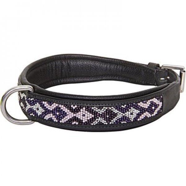 HV Polo Hundehalsband Beads , topmodisch mit Perlen, schwarz
