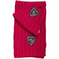 HV Polo Winter Mütze und Schal Set aus weichem Strick, One Size, rot
