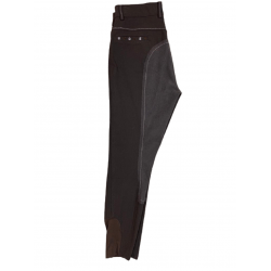 Vollbesatz-Reithose Flowerpower, braun, Strasssteine in floralem Design, elastischer Beinabschluss, atmungsaktiv