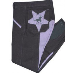 Imperial Riding Kinder Reithose Global Star grey-lila