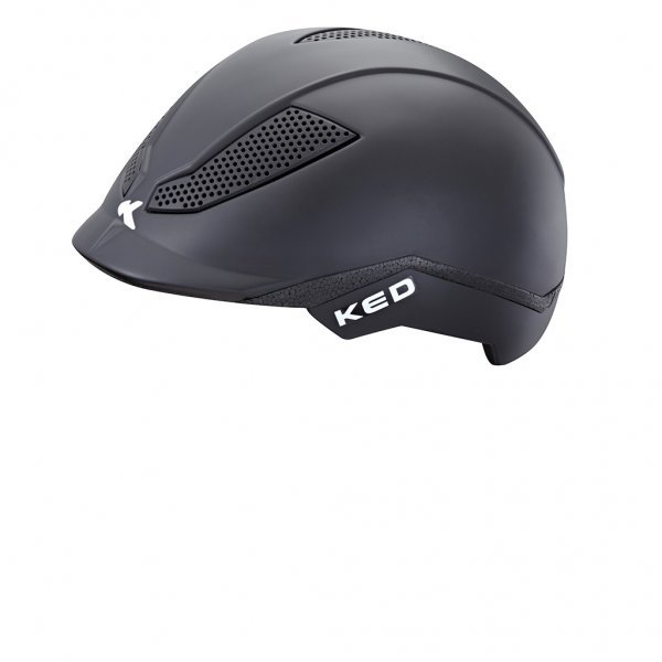 KED Kinder Reit- und Fahrradhelm PINA Black Matt, maxSHELL®-Technologie  QUICKSAFE®-Verstellsystem