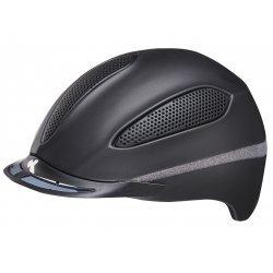 KED Reithelm Paso black matt shine, maxSHELL®-Technologie QUICKSTOPP® Gurtlängeneinstellung und -arretierung