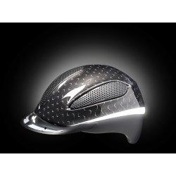 Reithelm Paso K-Star schwarz mit Reflektoren, maxSHELL®-Technologie QUICKSTOPP®, K-STAR® Vollflächen-Reflektor