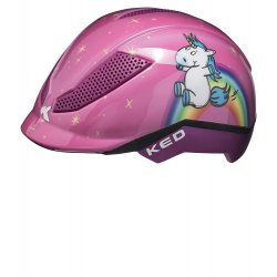 KED Kinder Reit- und Fahrradhelm PINA UNICORN, maxSHELL®-Technologie QUICKSAFE®-Verstellsystem mit Doppel-LED Blinklicht