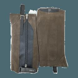 Chaps Kavalette Comfort von Kavalkade aus Veloursleder, Hochwertige Kurzchaps mit Reißverschluss und Klettverschluss