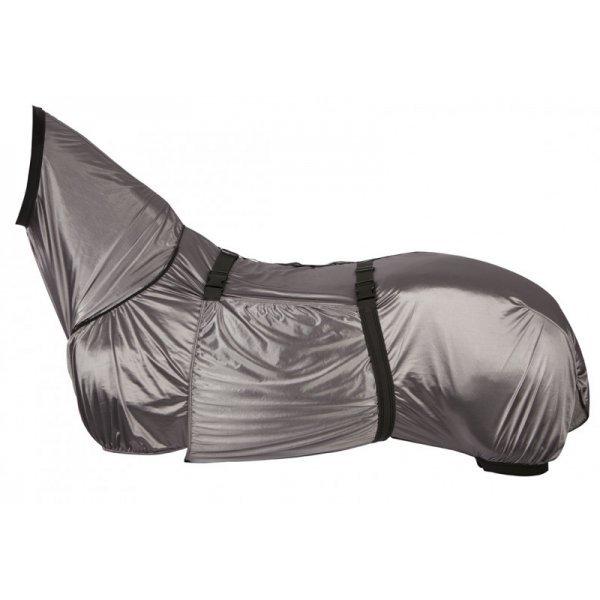 Ekzemerdecke von Pfiff, Rundumschutz durch feste Verbindung zwischen Halsteil und Decke, Schweiflatz, abnehmbarer Bauchlatz