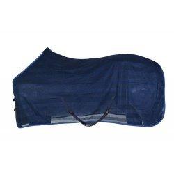 Fliegendecke, leicht und engmaschig von Pfiff, luftdurchlässig, Brustverschluss, Schweifriemen, waschbar, blau
