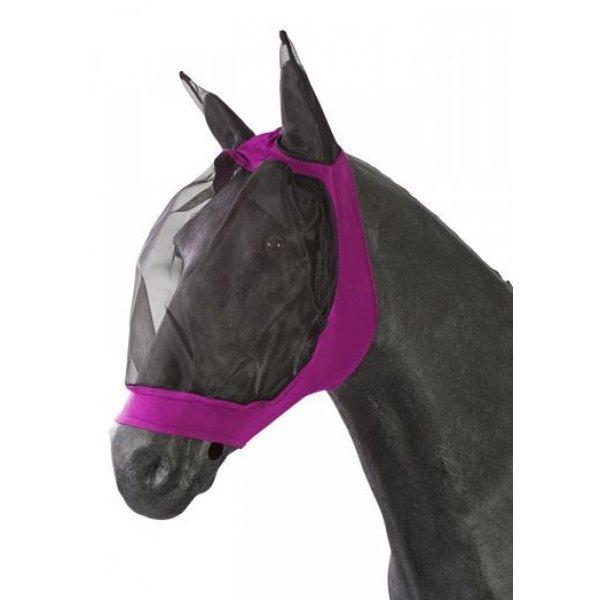 Fliegenmaske Fliegenschutz von Pfiff, weiches Material, keine Verschlüsse, sehr elastischer Stoffeinsatz, insektenssicher da eng anliegend, pink