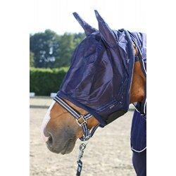 Fliegenmaske für Pferde von Pfiff weiches anschmiegsames Material mit Klettverschluss, insektenssicher