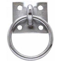 Anbindering zum Anschrauben, rostfrei, verzinkt, Ring Ø: 5 cm, mit 4 Schraublöchern, massive Anbindevorrichtung zur Befestigung an Mauerwerk, Holzpfosten, etc.